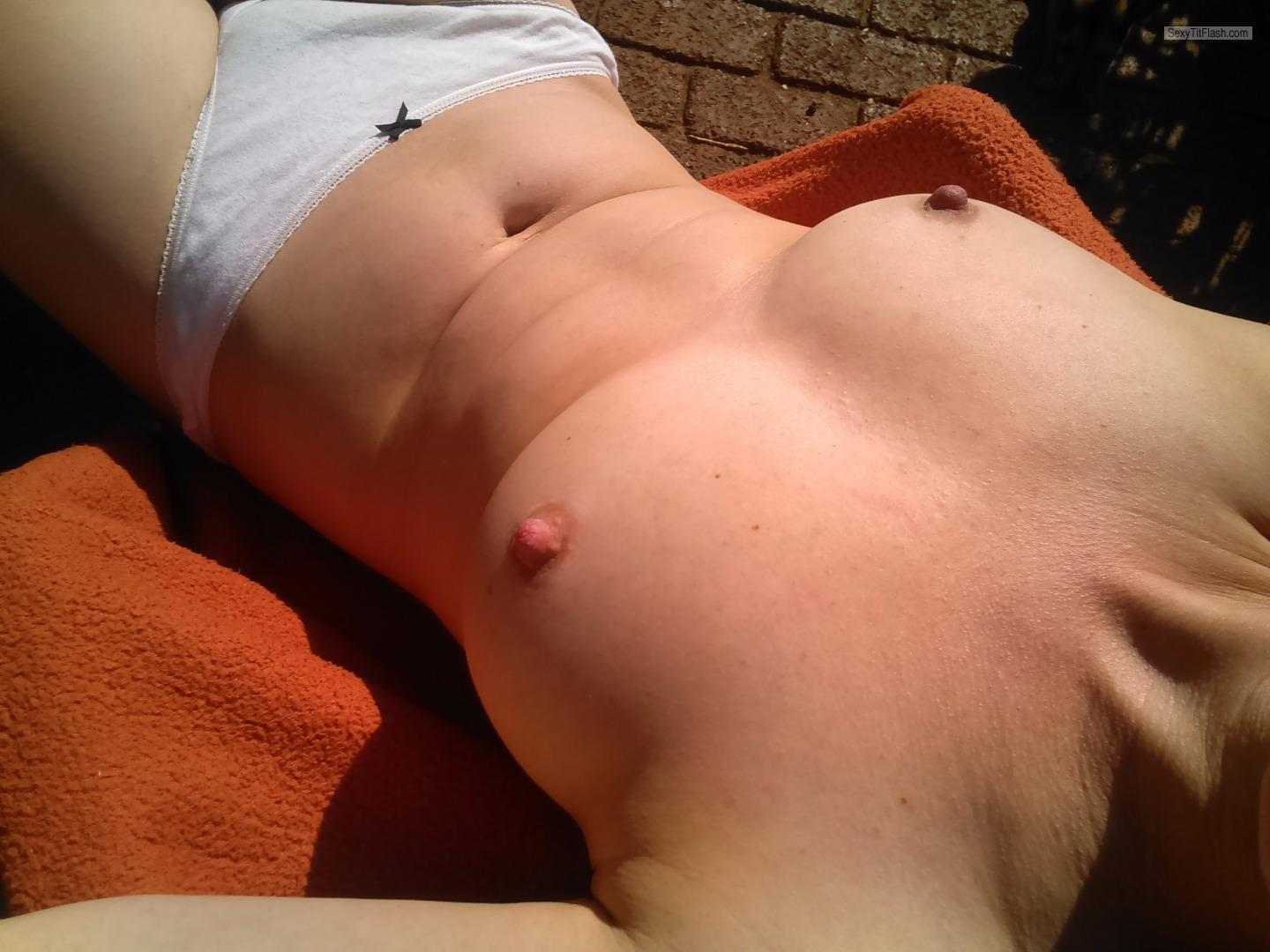 Tit Flash: My Small Tits (Selfie) - Summersun from United Kingdom